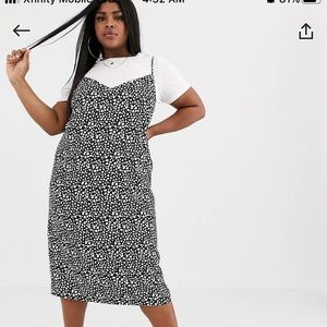 ASOS DESIGN curve midi cami slip dress